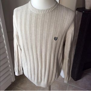 Chaps Ralph Lauren Beige Sweater | 100% Cotton